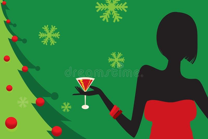 De Partij van Kerstmis stock illustratie