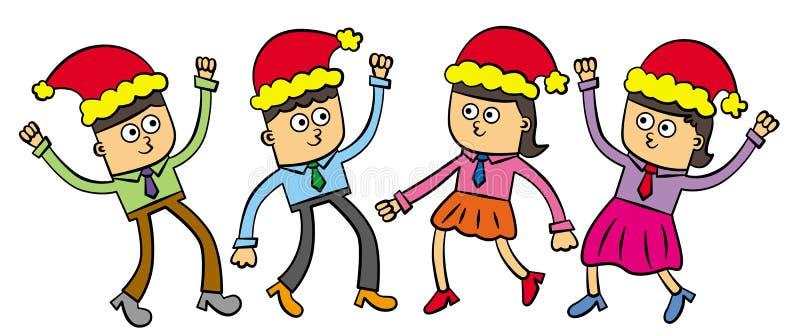 De partij van Kerstmis van het bureau royalty-vrije illustratie