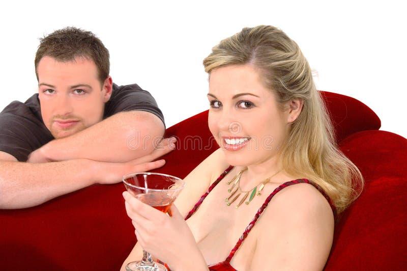De Partij van martini stock foto