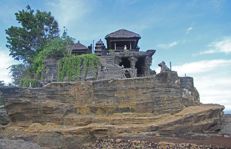 De Partij van tempeltanh op Indonesisch eiland Bali royalty-vrije stock foto