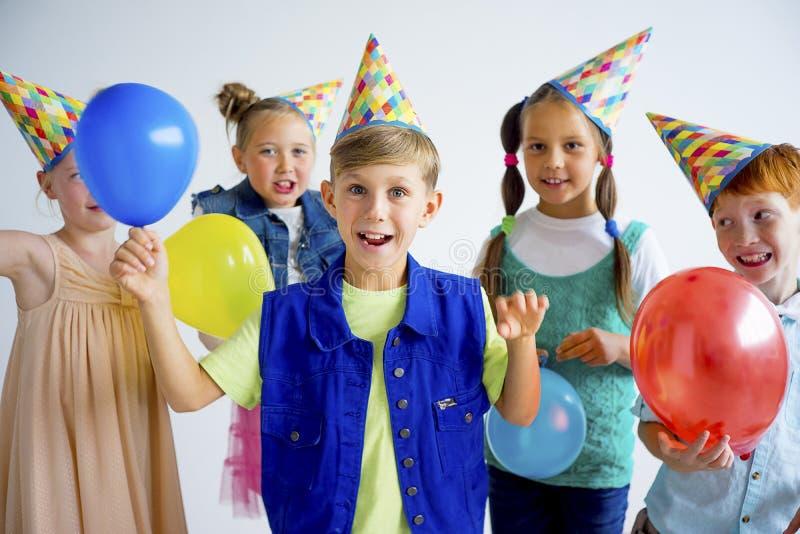De partij van de tienerjarenverjaardag stock afbeeldingen