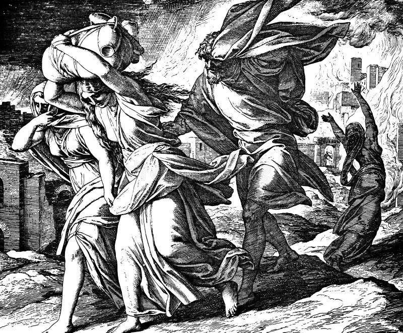 De partij vlucht Sodom Gomorrah stock foto