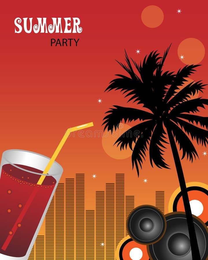 De partijachtergrond van de zomer vector illustratie