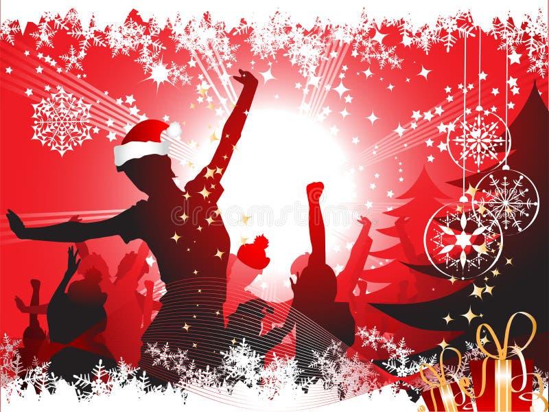 De partijachtergrond van Kerstmis vector illustratie