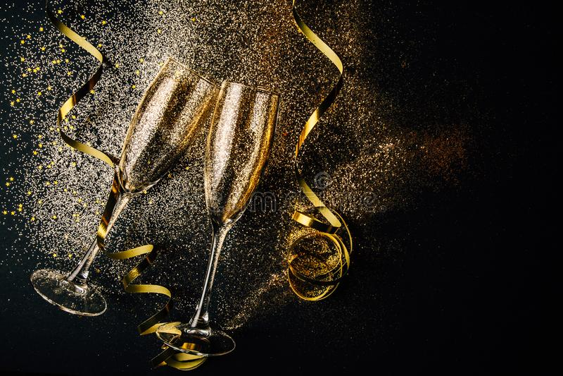 De partijconcept van de nieuwjaarviering royalty-vrije stock foto's