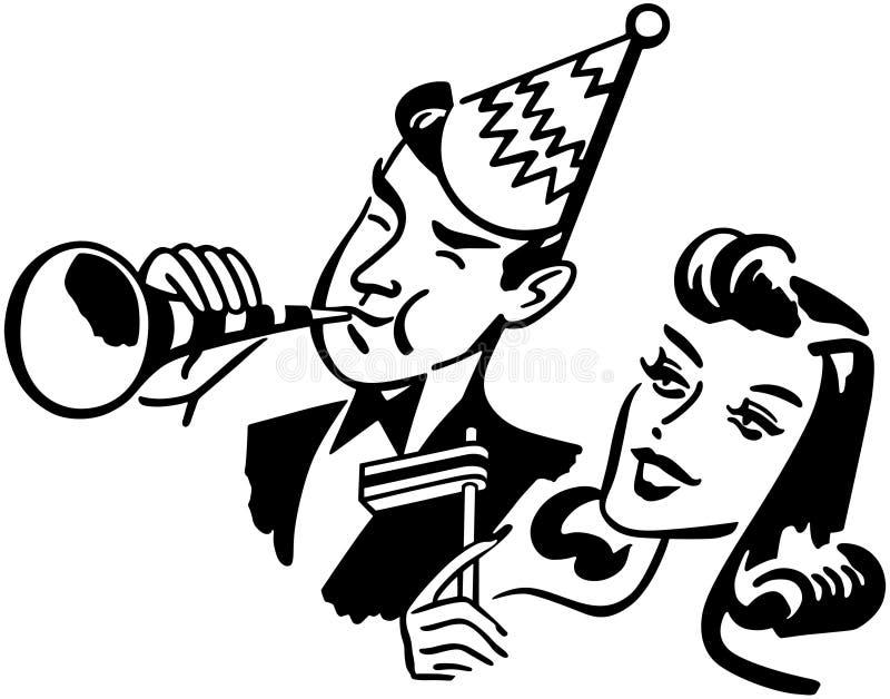 De Partijpaar van het nieuwjaar vector illustratie