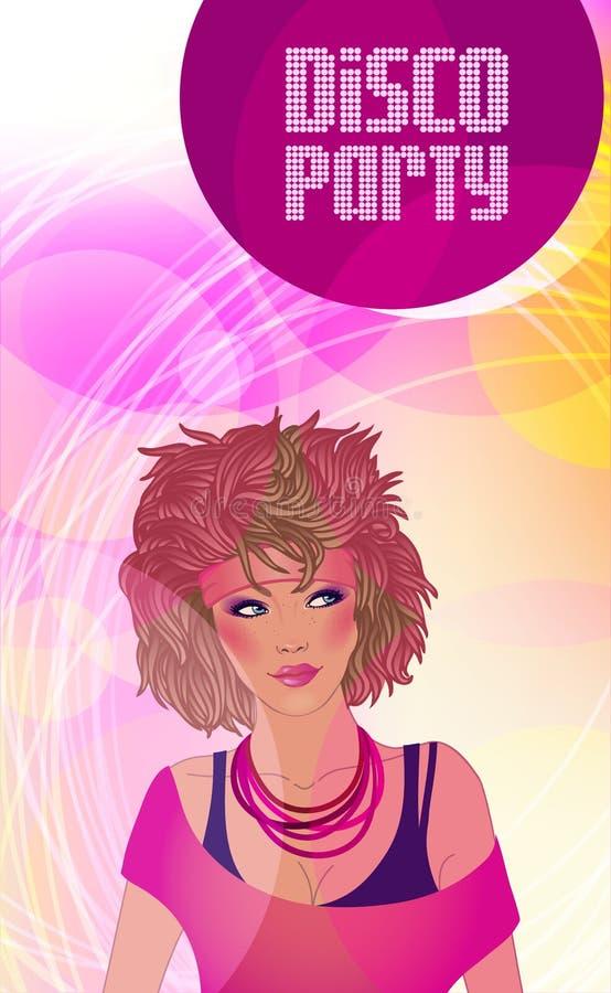 De partijuitnodiging van de disco vector illustratie