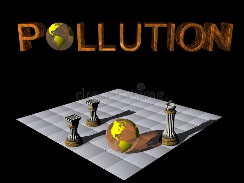 De partner van de controle, aarde tegenover verontreiniging. royalty-vrije illustratie