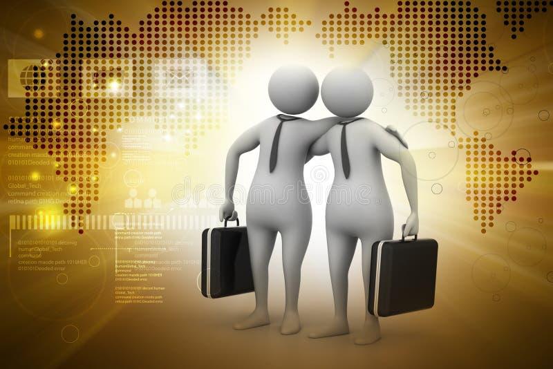 De partners met zaken doen in zakken stock illustratie