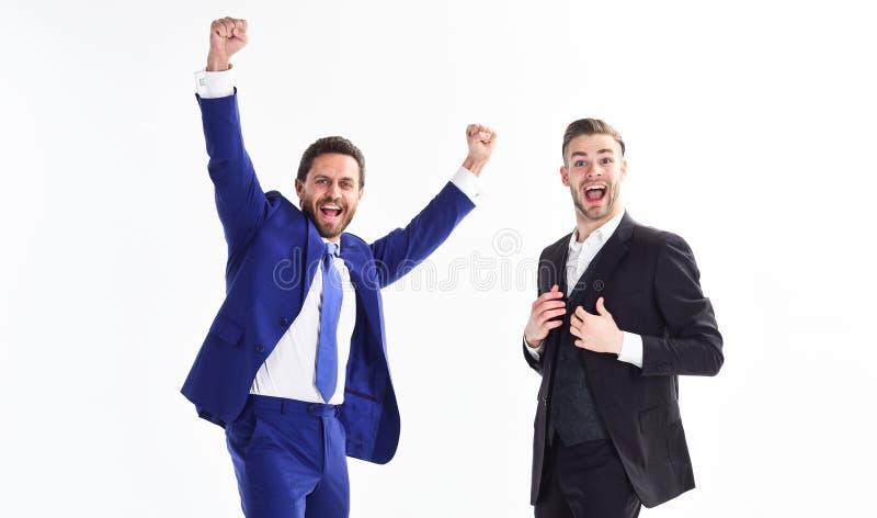De partners vieren succes Bedrijfsvoltooiingsconcept Bedrijfs succes Bureaupartij Vier succesvol royalty-vrije stock foto