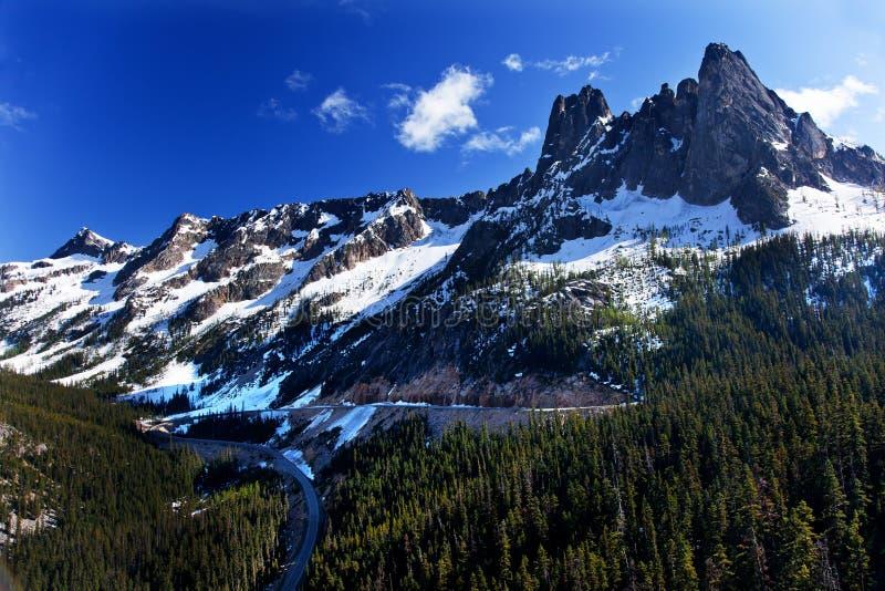 De Pas Juli van Washington van de Berg van de Sneeuw van de klok stock afbeeldingen