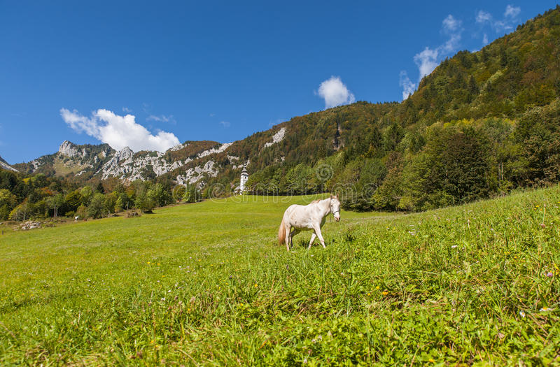 De pas van de Ljubeljberg, aard, Slovenië royalty-vrije stock afbeeldingen
