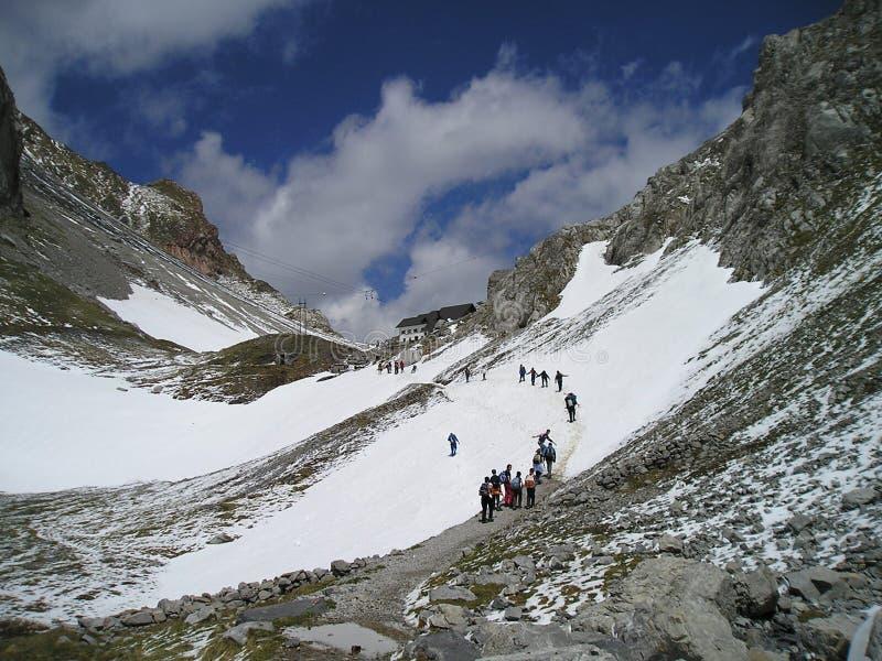 De pas van Volaia. stock foto