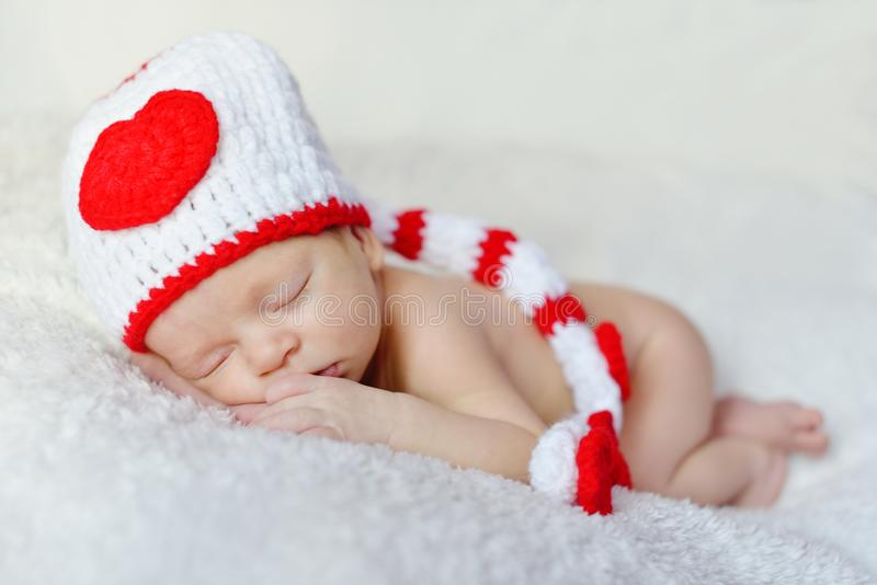De pasgeboren Slaap van de Baby stock fotografie
