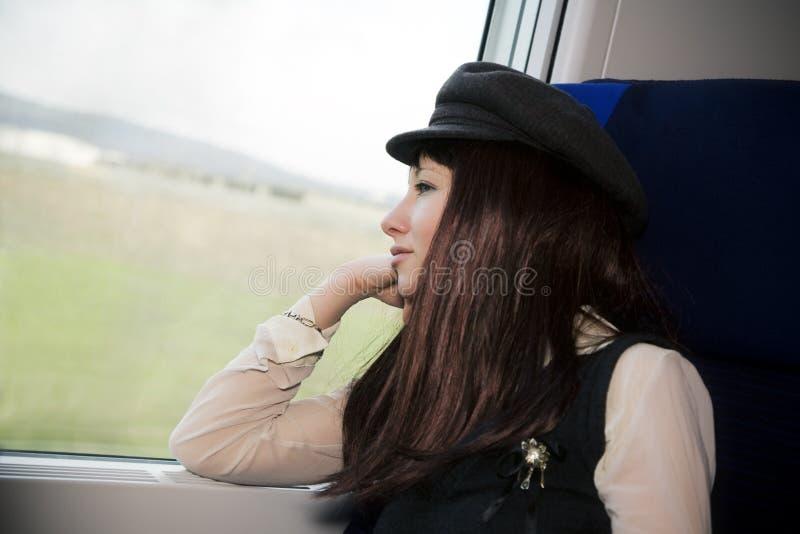 De passagier van de trein stock foto