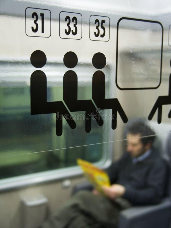 De passagier van de trein stock foto's