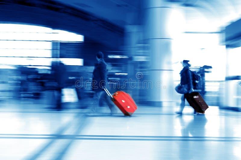 De passagiers van de Luchthaven van Shanghai Pudong royalty-vrije stock afbeelding