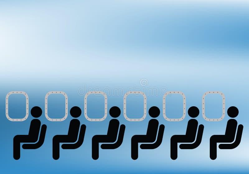 De passagiers van de luchtvaartlijn royalty-vrije illustratie