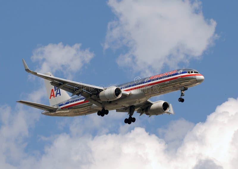 De passagiersstraal van American Airlines stock afbeelding