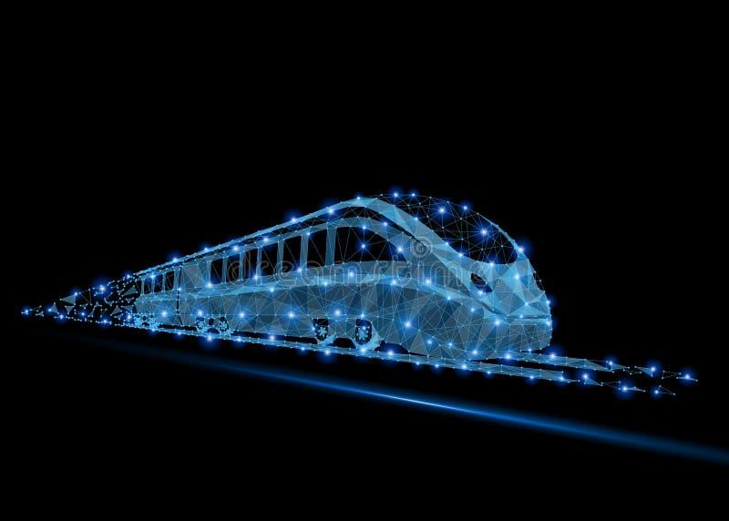 De passagierstrein van de hoge snelheidsforens stock illustratie
