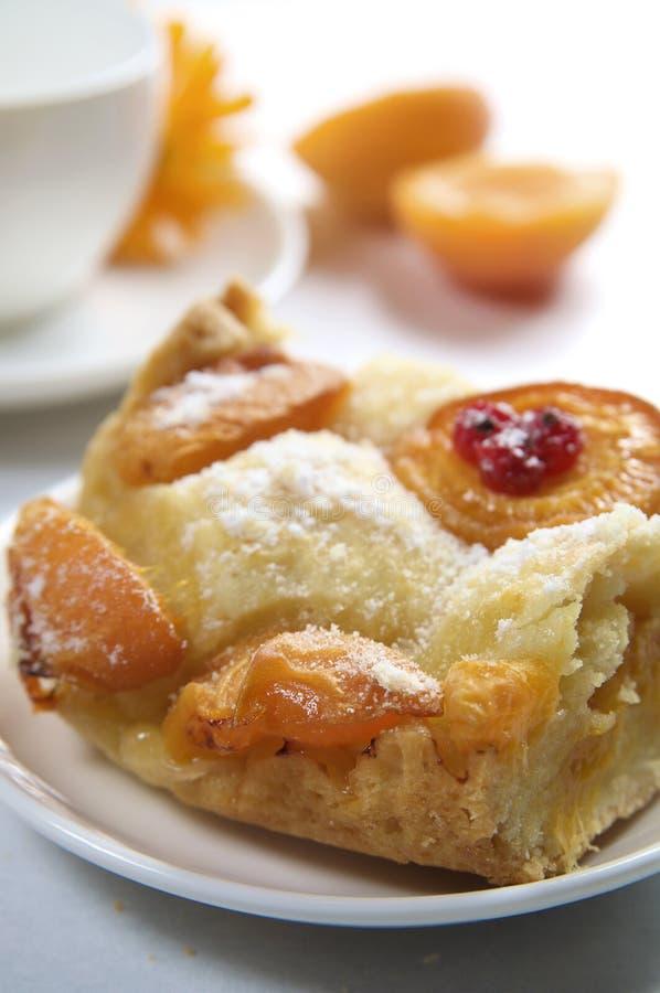 De pastei van de abrikoos royalty-vrije stock foto