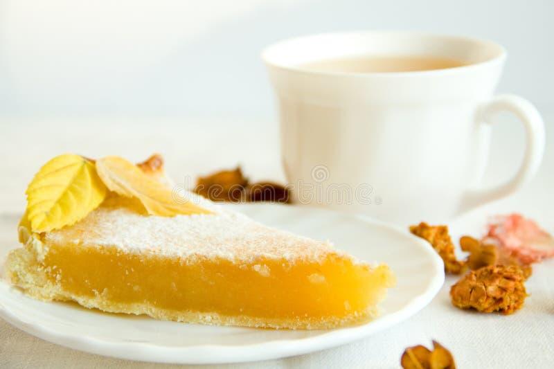 De pastei van de citroen royalty-vrije stock afbeeldingen