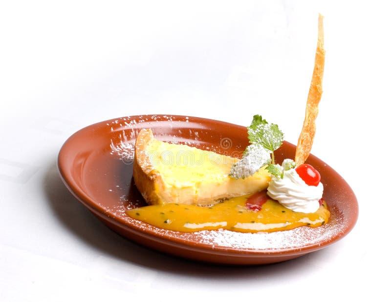 De Pastei van de citroen stock foto