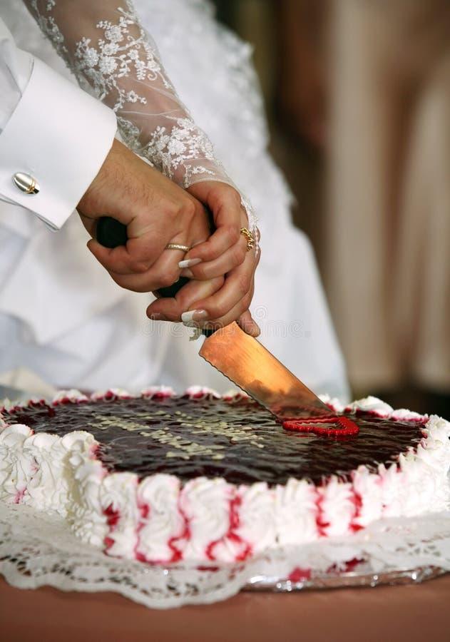 De pastei van het huwelijk royalty-vrije stock foto's