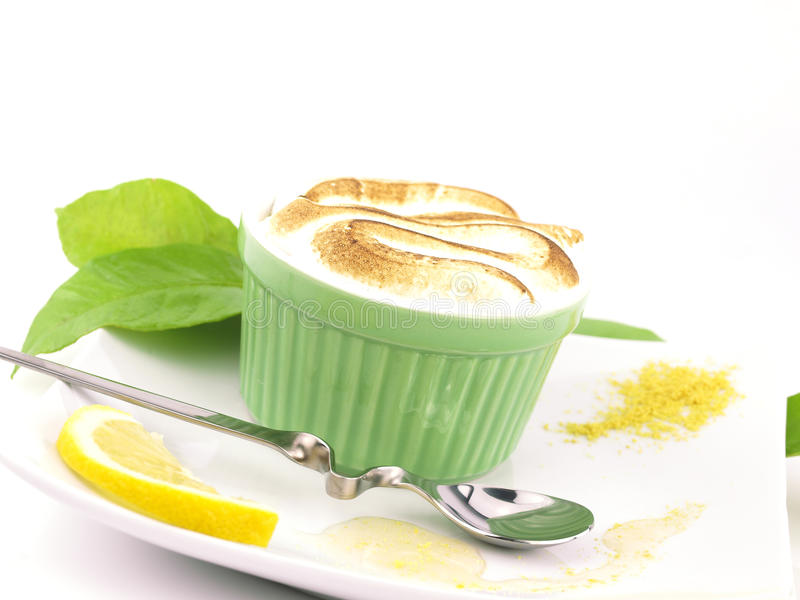 De Pastei van het Schuimgebakje van de citroen stock foto