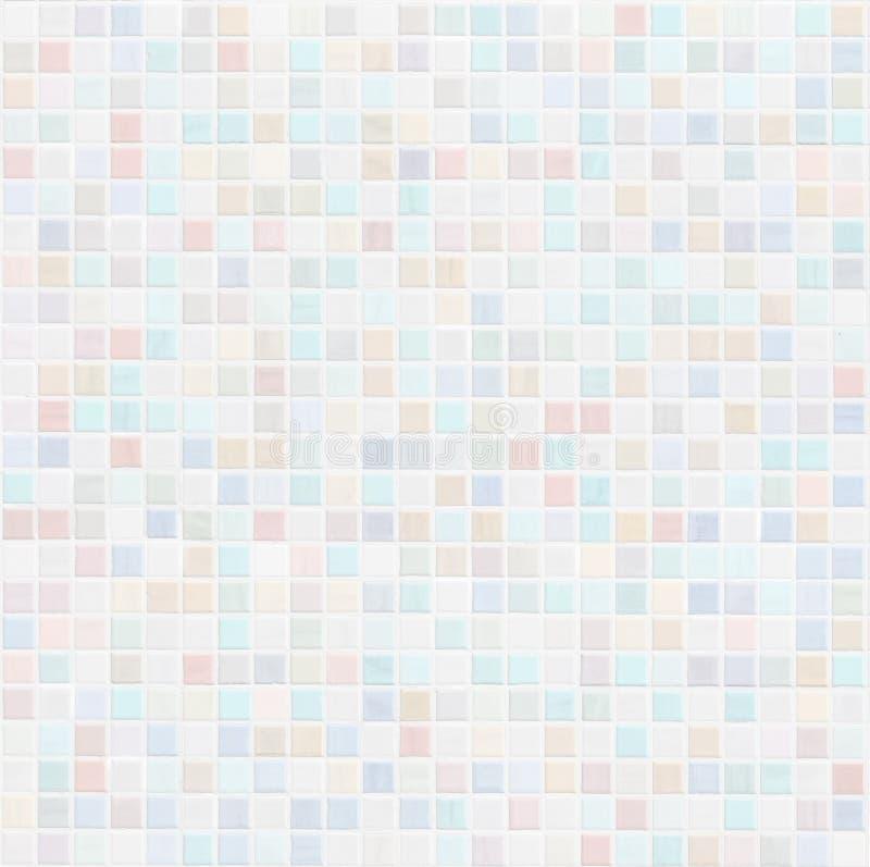 De pastelkleur gekleurde badkamers van de keramische tegelmuur of keukenachtergrond stock afbeeldingen