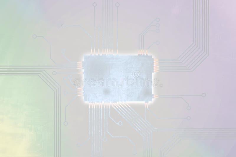 De pastelkleur Gekleurde kern van de digitale computerspaander royalty-vrije illustratie