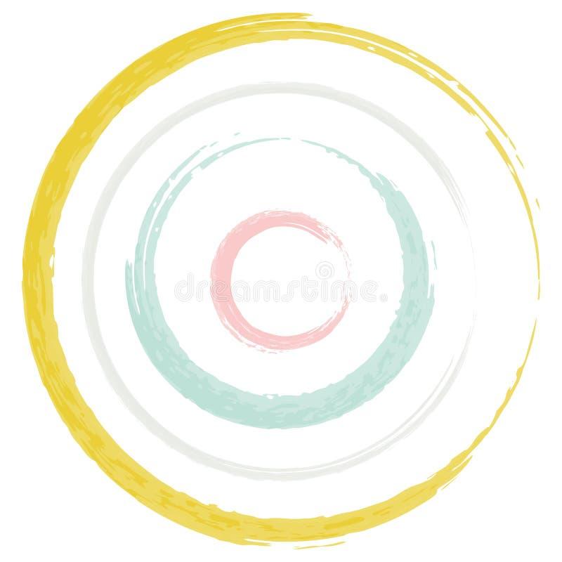 De Pastelkleur van de cirkelsborstel royalty-vrije stock foto