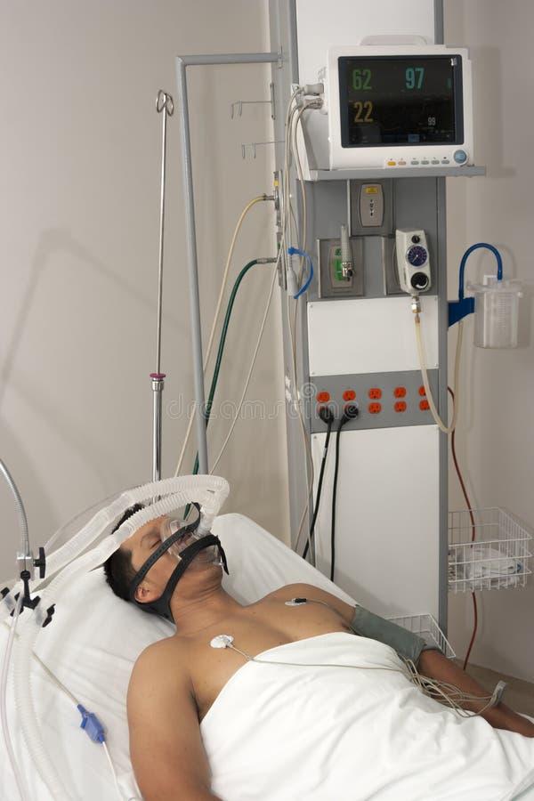 De patiënt ontvangt verdovingsmiddel stock afbeeldingen