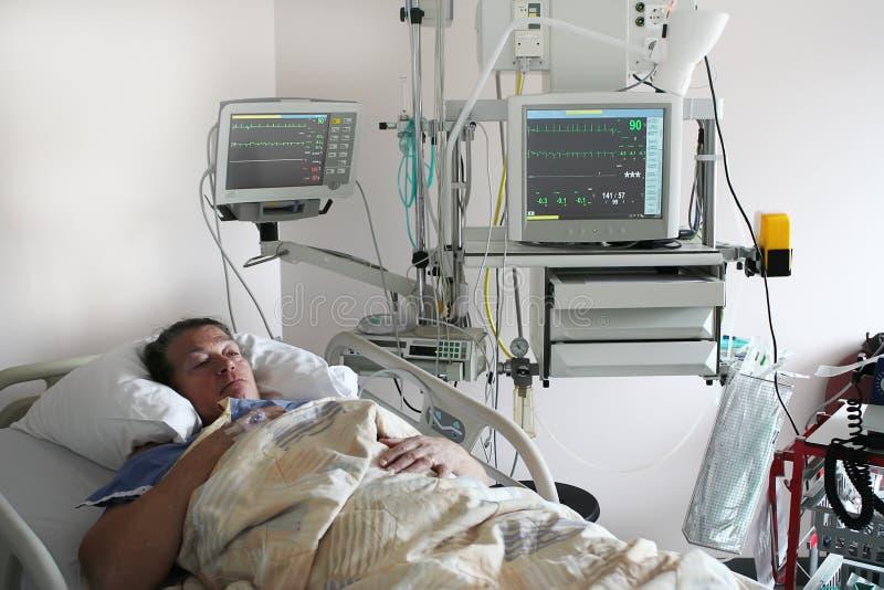 De patiënt van de cardiologie stock foto's