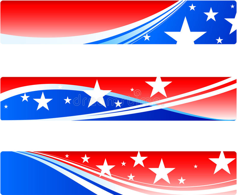 De patriottische banners van de Dag van de onafhankelijkheid