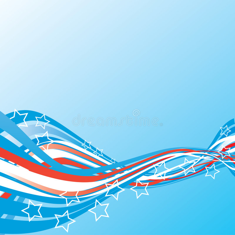 De Patriottische kantoorbehoeften van de V.S. stock illustratie