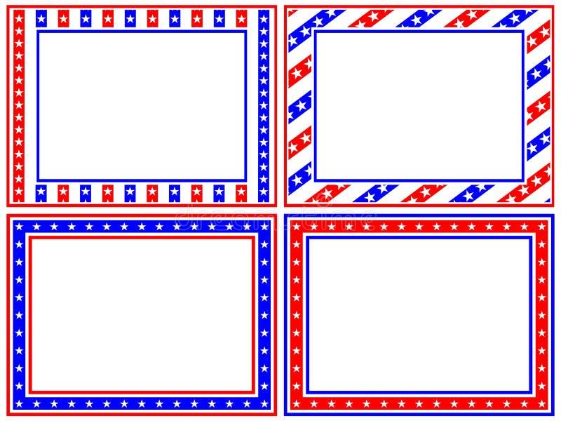 De patriottische Reeks van het Frame stock illustratie