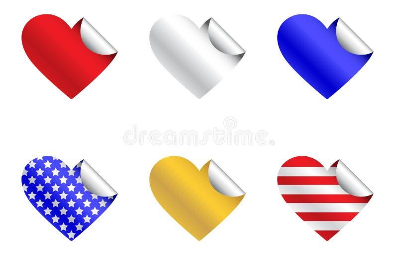 Download De Patriottische Stickers Van Het Hart Vector Illustratie - Illustratie bestaande uit seizoengebonden, rood: 29507308