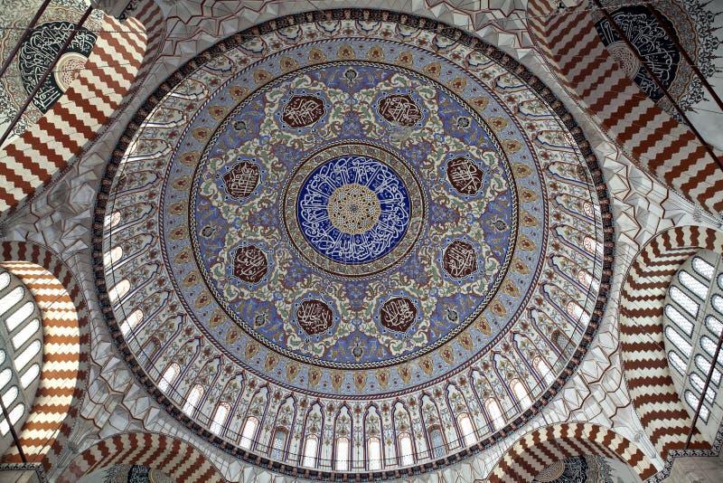 De patronen van de koepel van Moskee Selimiye stock fotografie