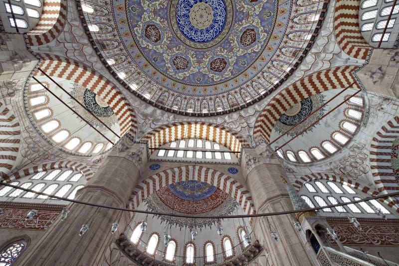 De patronen van de koepel van Moskee Selimiye stock afbeelding