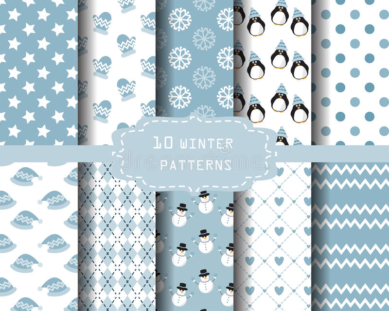 De patronen van de winter vector illustratie