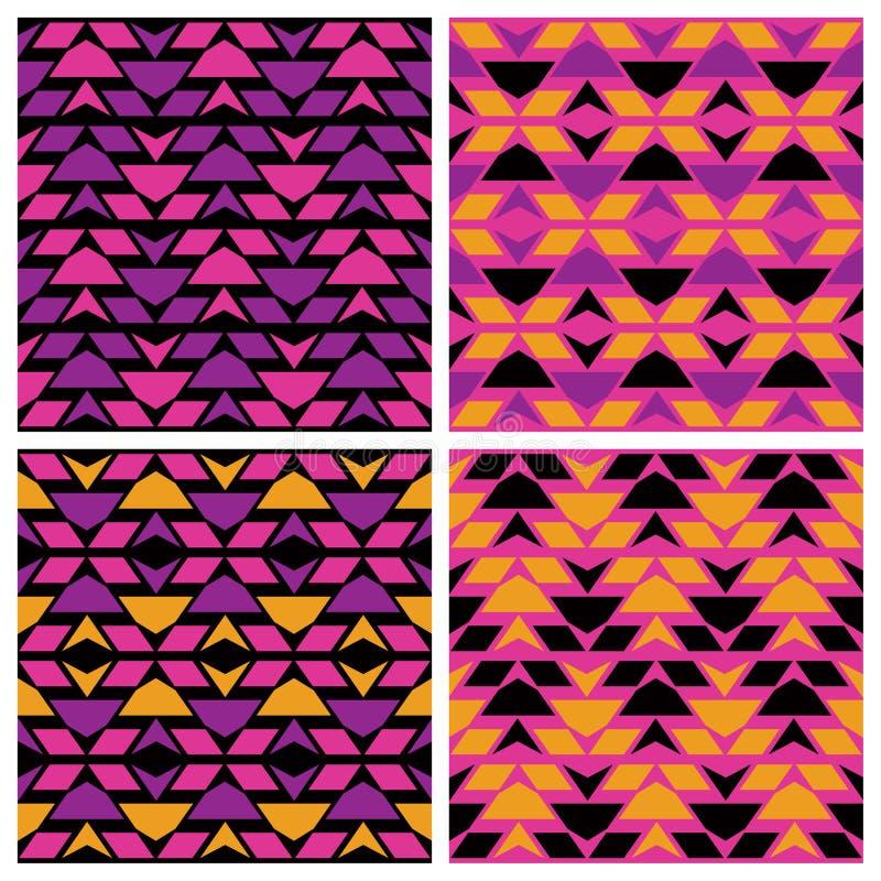 De Patronen van de driehoekszigzag stock illustratie