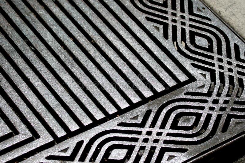 De patronen van het metaal stock afbeelding