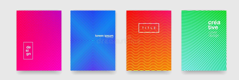 De patroonachtergrond, vat geometrische golftextuur, kleurengradiënt samen Vector oranje, blauw, rood en groen geometrisch patroo vector illustratie