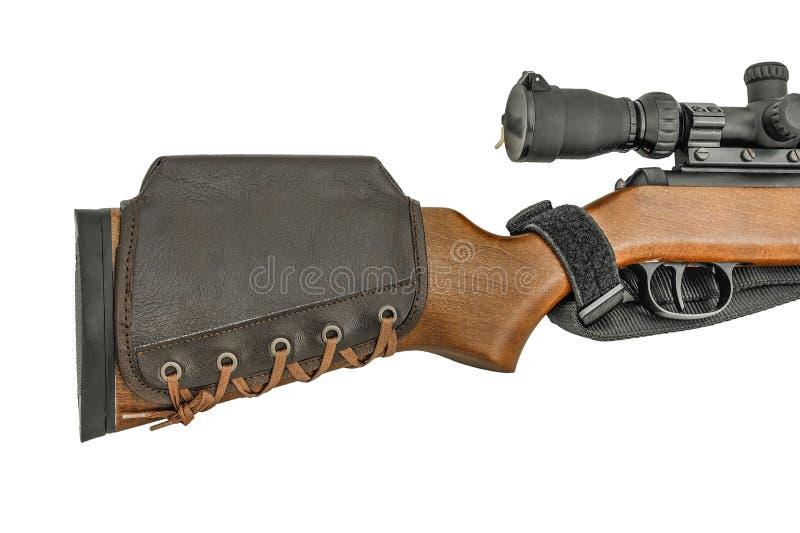 De Patroonhouder van geweerbuttstock stock afbeeldingen