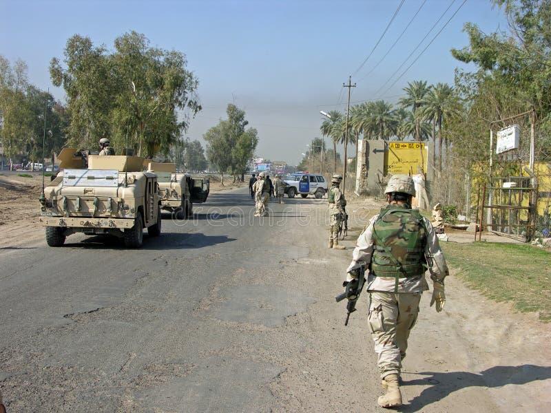 De Patrouille van Bagdad stock foto