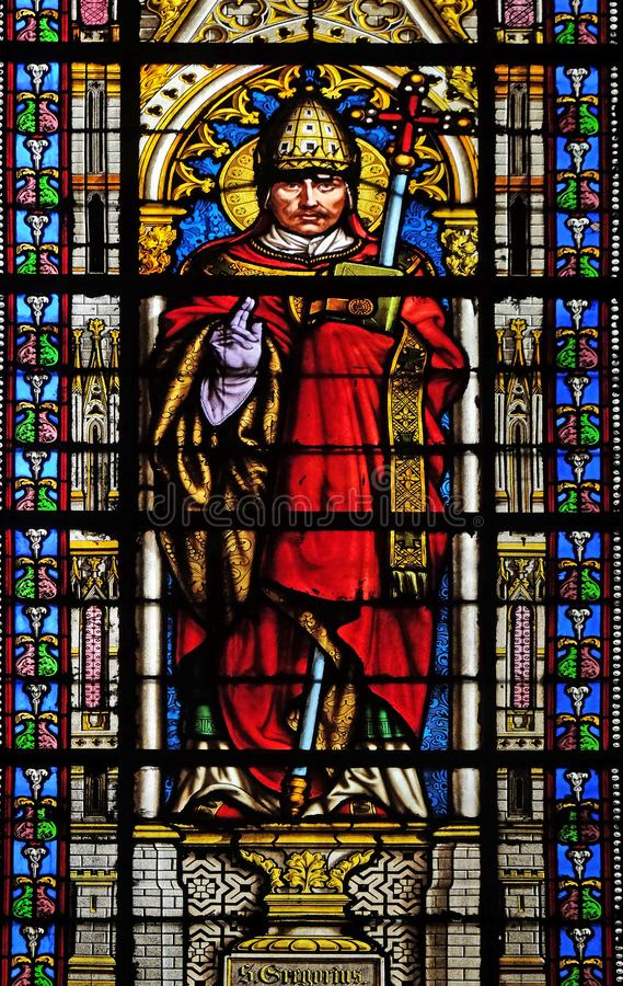 De Paus Gregory I van heilige stock fotografie