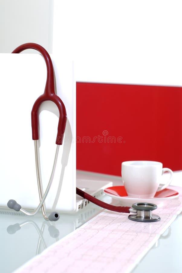 De pauze van de koffie in medisch Ce royalty-vrije stock afbeelding
