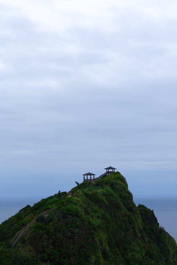 De Paviljoenen zien de Stille Oceaan onder ogen royalty-vrije stock fotografie