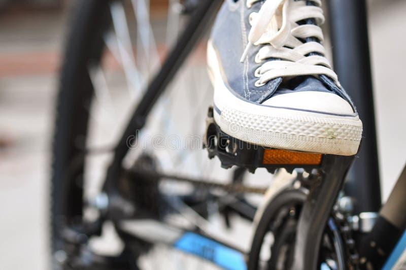 De pedalen van de bergfiets royalty-vrije stock afbeelding